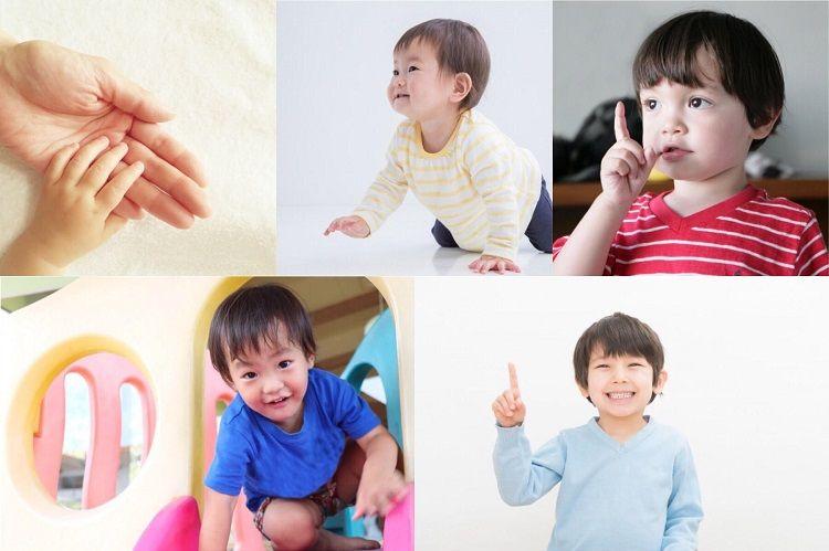 小さい子どもたちは室内で動き回る